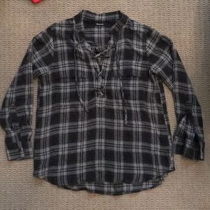 Madewell Tie up Flannel top